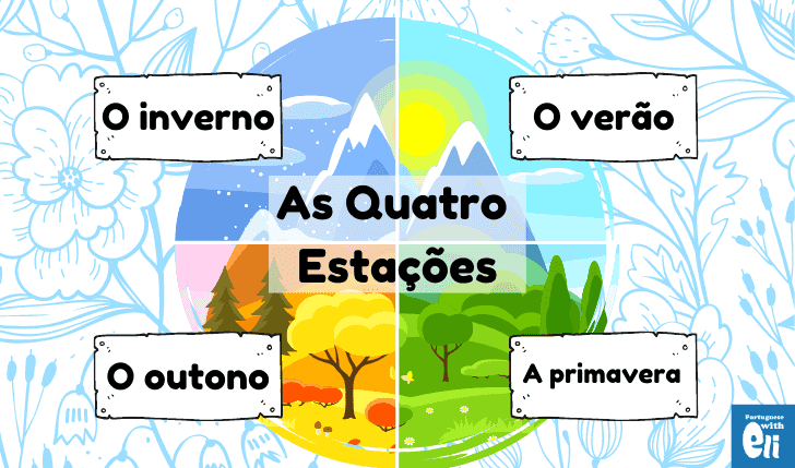 table with the the seasons in portuguese