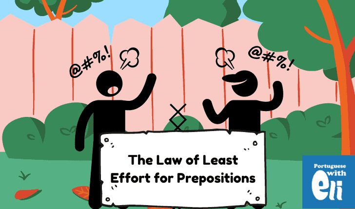 portuguese preposition contractions and the law of least effort